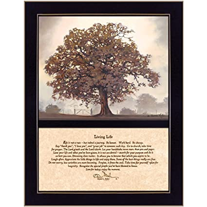 Craft room cow128f 712 living life two part hardwood framed inspirational textured print