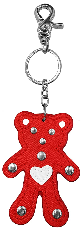 Luna Sosano's Premium Leather Teddy Bear Key Chain - Red