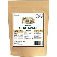 Just Jaivik 100% Organic Shatavari Powder, USDA Organic, 1/2 Pound / 227g, Asparagus Racemosus, Rejuvenative for Vata and Pitta That Promotes Vitality and Strength.