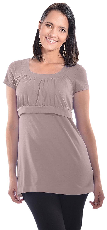 My Bella Mama Empire Waist Nursing Top Breastfeeding Tee Shirt