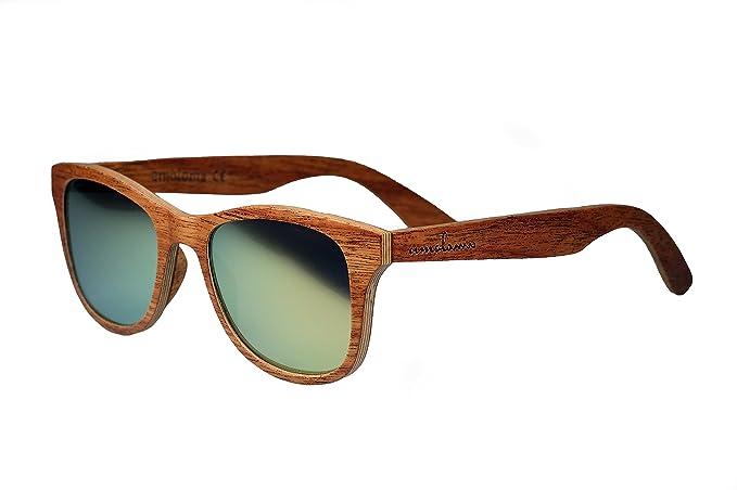 amoloma S Holz Sonnenbrille Birnbaum / Der Rahmen der Brille besteht aus Birnbaum Holz / Wayfarer Style / unisex (Grau polarisiert) ueQRpu0Iq