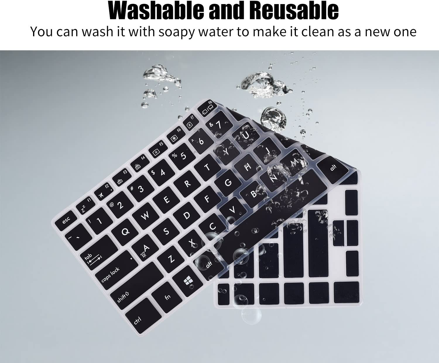 Clear Premium Ultra Thin Keyboard Cover for ASUS VivoBook F510UA FHD Laptop//F510UF//ASUS VivoBook S S510UA S510UN//ASUS S510UQ-EB76 15.6 Laptop Protective Skin