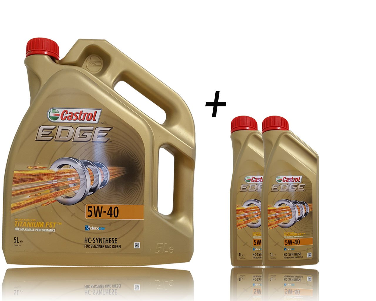 2 x 1 5 L, l = 7 litres de castrol eDGE titanium fSTTM 5W - 40 huile moteur castrol moteur-huile à l'huile avec pendentif-particularités :  aCEA c3, aPI sN cF, vW/501 505/505/00, 00 01, bMW longlife - 04 mB freigabe 229.51 -, 226.5/229.31 /;