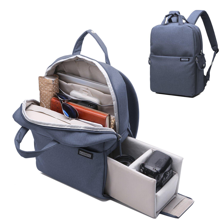 Camera Backpack DSLR/SLR Camera Bag Multifunction Travel Outdoor Waterproof Tablet Laptop Bag for Sony Canon Nikon - Drak by Caden
