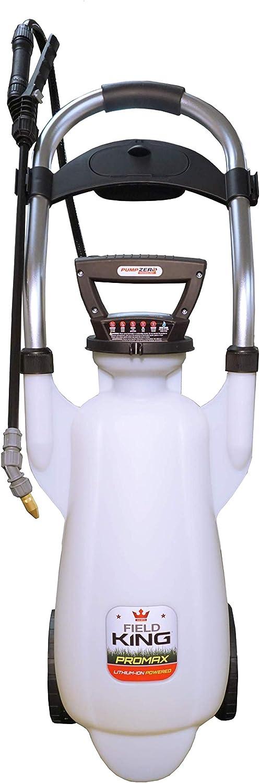 Field King 190635 Lithium-ion Pump Zero Power Wheeled Cart Sprayer, 3 Gallon, 3-Gal, White