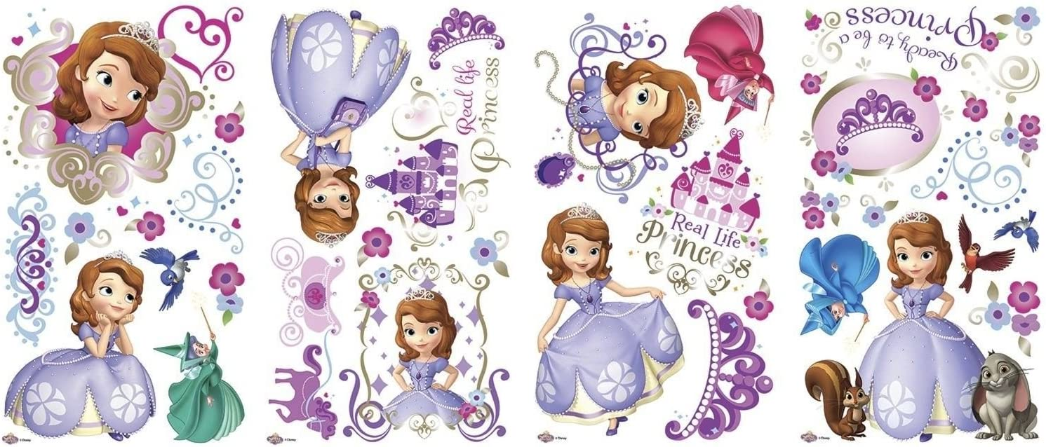 DISNEY SOFIA the FIRST 37 Wall Decals Princess Sophia 1st Room Decor Stickers