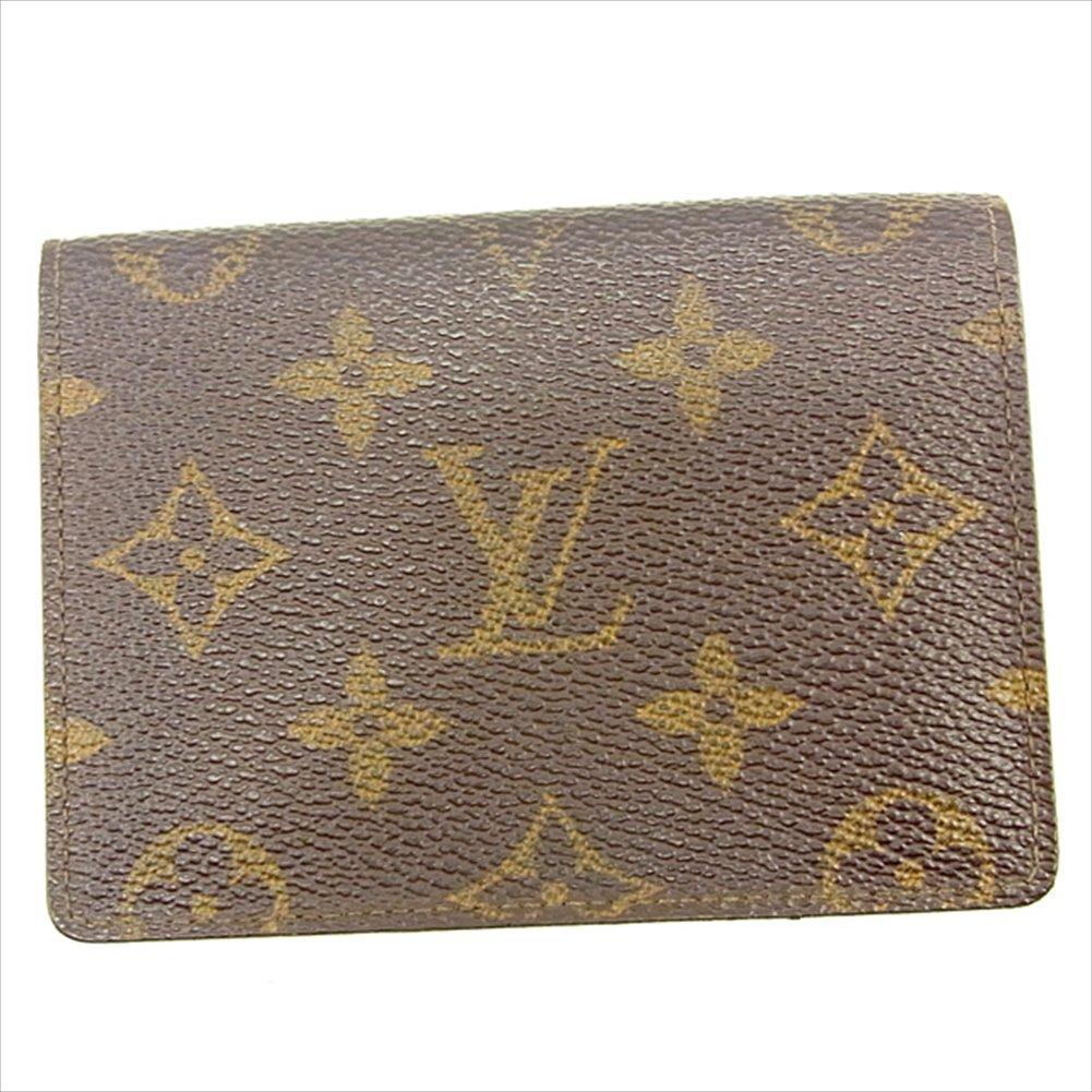 (ルイ ヴィトン) Louis Vuitton 定期入れ パスケース ブラウン ポルト2カルトヴェルティカル モノグラム メンズ可 中古 T051   B0772T7VBK