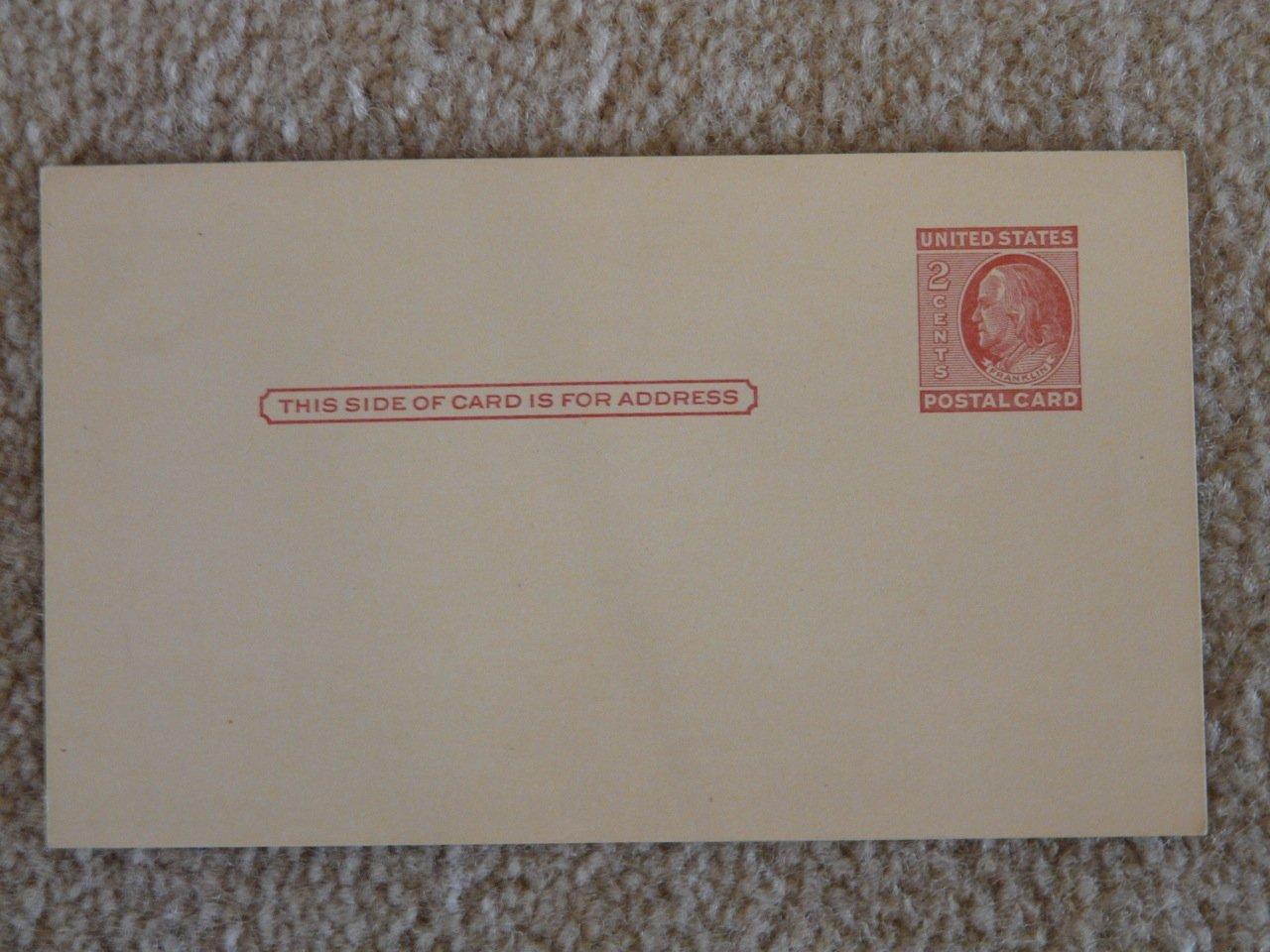 Amazon Vintage United States Postal Card 2 Cents Franklin