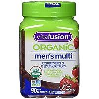 Organic Mens Gummy Multivitamin, 90 Count - Non-GMO, Gluten-Free, No Gelatin, No...