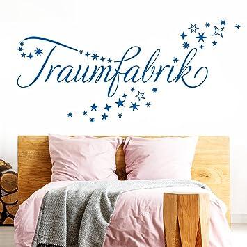 Grandora Wandtattoo Traumfabrik + Sternenschweif I azurblau (BxH) 58 x 21  cm I Schlafzimmer Kinderzimmer Sticker Aufkleber Wandaufkleber Wandsticker  ...