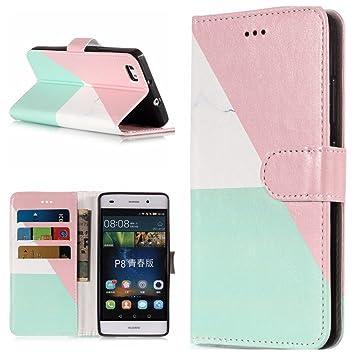 Amazon.com: Abtory Huawei P8 Lite Funda, Slim Flip Cover ...