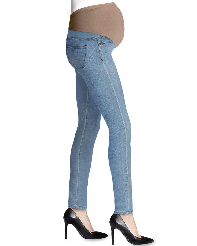 Hybrid /& Company Super Comfy Stretch Womens Skinny Maternity Jeans PM4822S Light BLUE2 Small