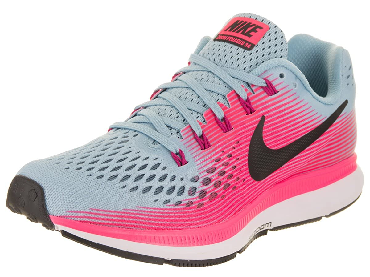 Nike Women's Air Zoom Pegasus 34 (N) Mica BlueWhite Racer Pink Running Shoe 5.5 2A Women US