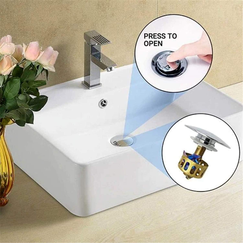 Universal Waschbecken Bounce Sink Drain Cover f/ür K/üche Badezimmer Zubeh/ör f/ür K/üchensp/ülen Maayn 2020 Universal Waschbecken Bounce Drain Filter,Anti-verstopfung Filter 1PC