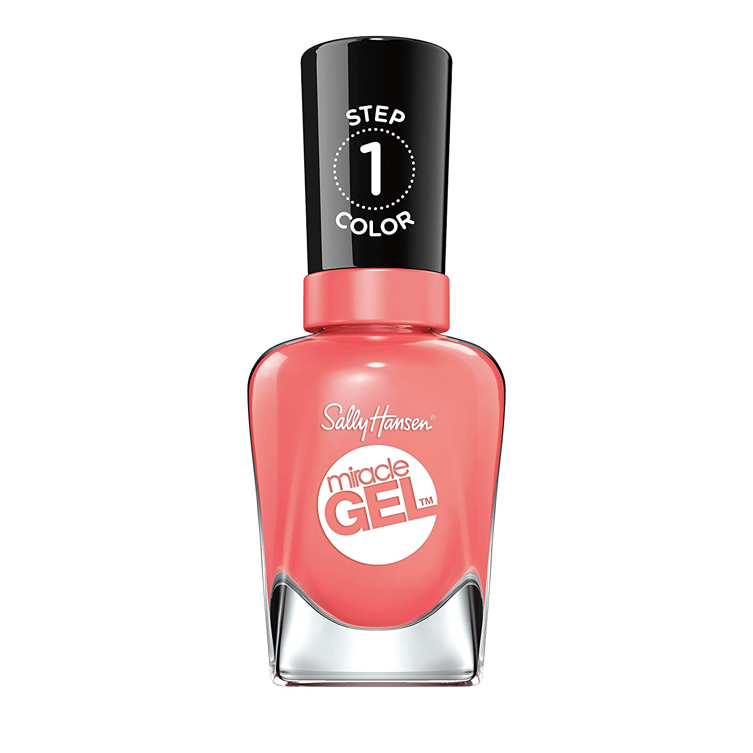 Sally Hansen Miracle Gel Nail Polish, Malibu Peach, Pack of 1