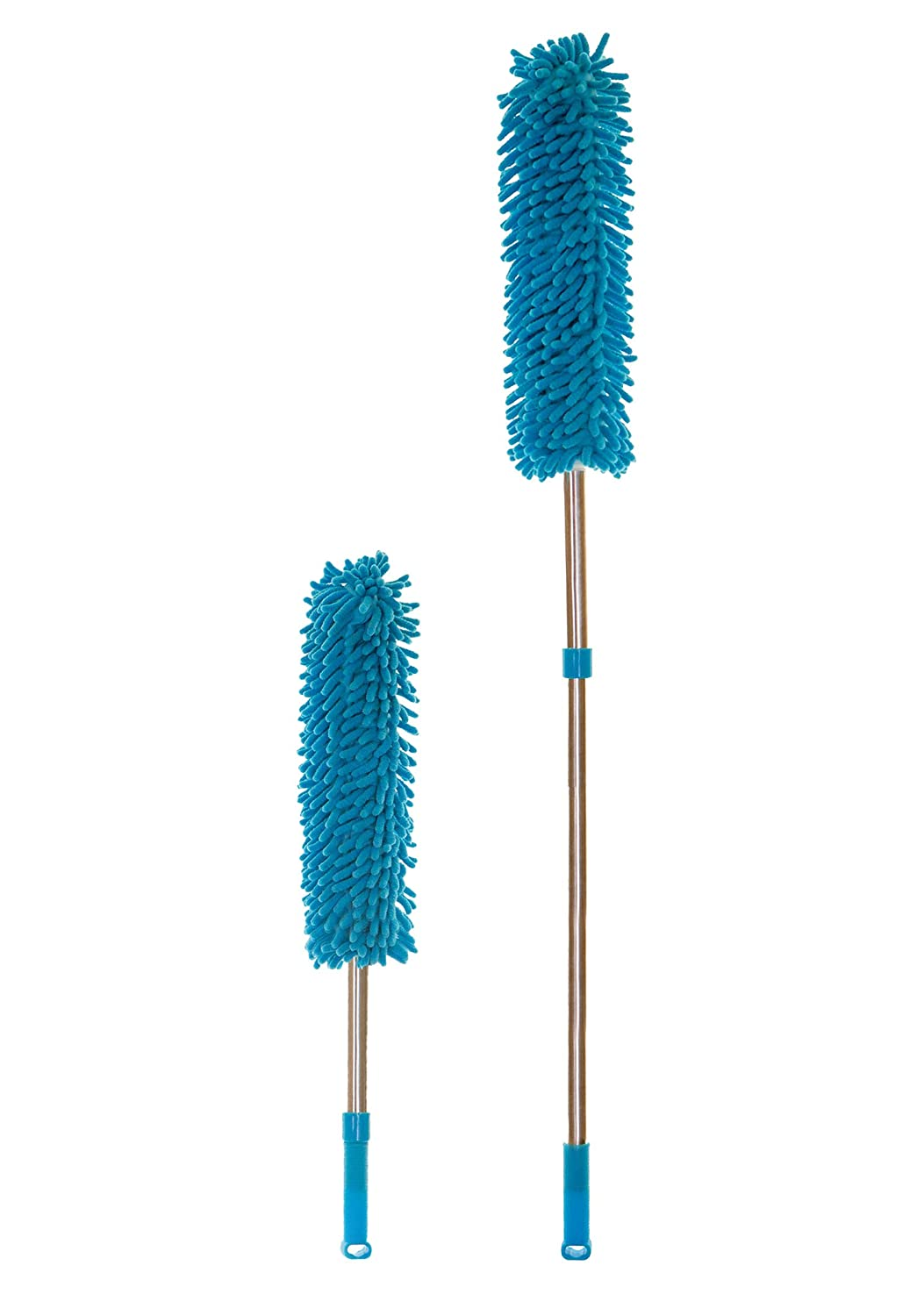 Extendable Cobweb//Feather Duster with Telescopic Microfiber Head Removable and Machine Washable Perfect for Office//Home//Car HEALTHY HOME