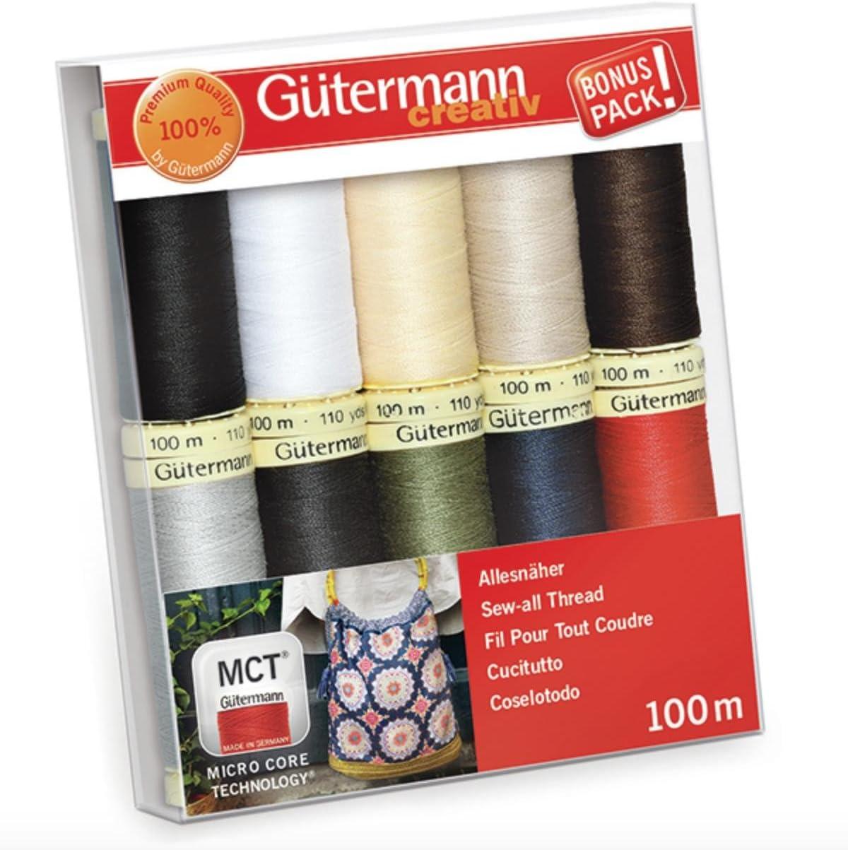 Gutermann - Juego de hilos, multicolor