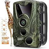 """Fotocamera da Caccia 16MP 1080P Telecamera Fototrappola a Infrarossi HD Ampia 120 ° Visuale 0.2s 940nm IR Visione Notturna 65ft con 2.4"""" LCD Schermo IP66 Impermeabile Macchine fotografiche da Caccia"""