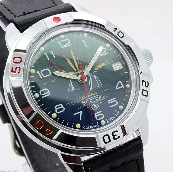Vostok Komandirskie Militar Ruso Azul Marino Commander Reloj 2414/431976: Amazon.es: Relojes