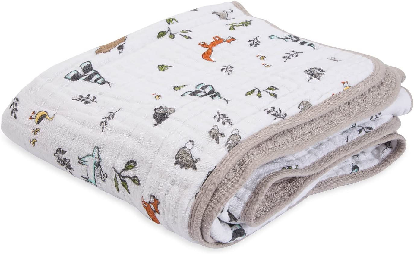 Colcha de muselina de algodón orgánico Little Unicornio – Forest ...
