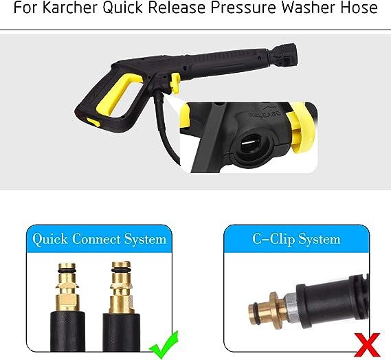 10m Manguera Karcher Serie K lavadora a presión gatillo Clip C-Negro-K2