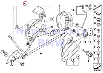 amazon bmw genuine locking system door front left outside door BMW Z4 E85 bmw genuine locking system door front left outside door handle carrier z4 2 5i z4 3