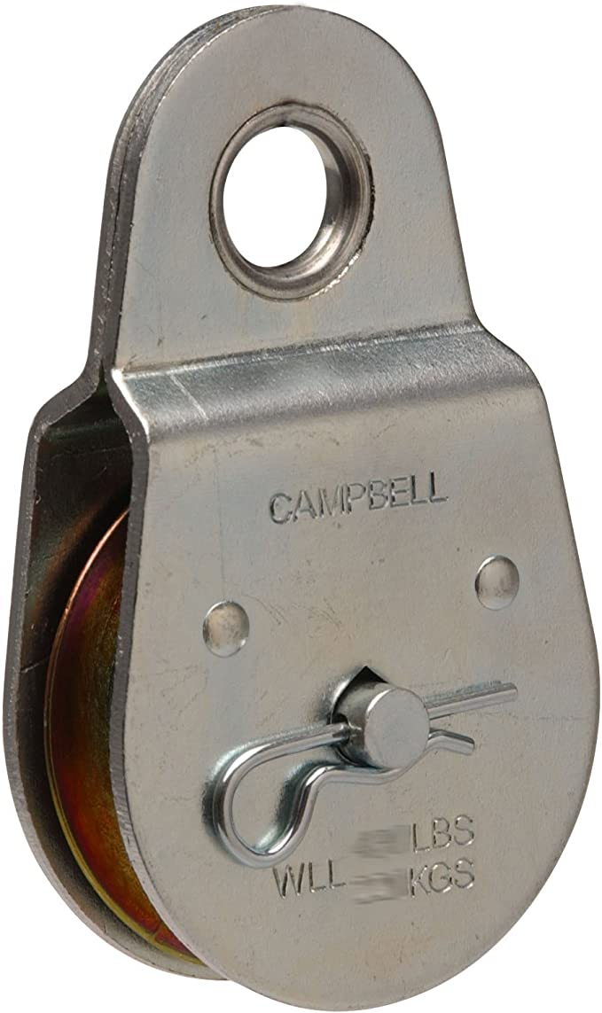 "Campbell Chain 1-1//2/"" Single Swivel Rope Pulley"
