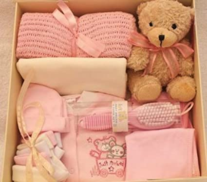 Set de regalo para recién nacidos, ajuar para recién nacidos rosa ...
