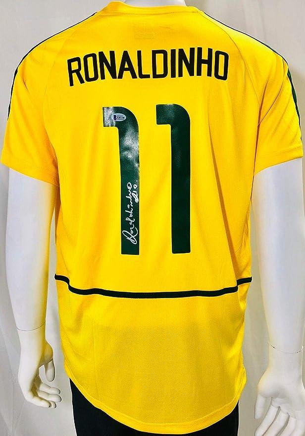 Neymar Signed Autographed Soccer Shirt Jersey Come With Sa Coa Framed Brazil Frame