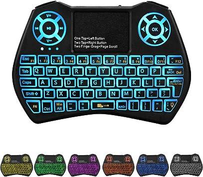 HaiFen Mini teclado inalámbrico I9 con panel táctil y teclas multimedia para Android, TV Box Smart, HTPC, PS3, teléfono inteligente, Mac, Linux, ...