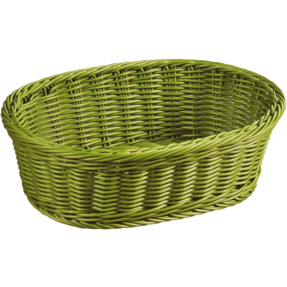 Kesper 19825 Fruit/Bread oval Basket, 11.61'' x 9.06'' x 3.74'', Olive