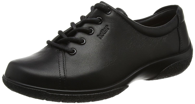 Hotter Dew EEE, Zapatos de Cordones Oxford para Mujer 38 EU|Negro (Jet Black 026)