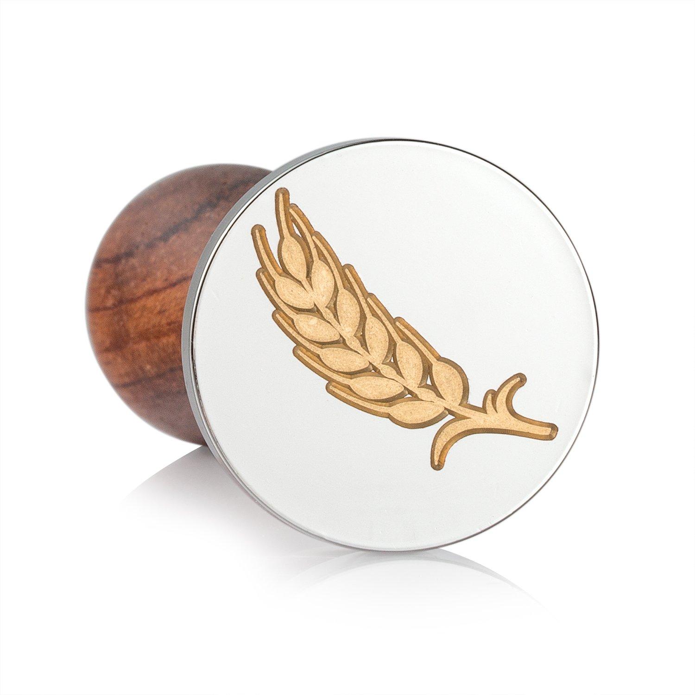 30 mm de di/ámetro Sello de cera Mceal cabeza de lat/ón plateado con mango de madera cosecha de pepinos
