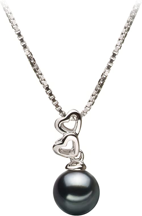 White Japanese AAAA 6-9mm Akoya Cultured Pearl Pendant Necklace 16//18 Solitaire Necklace Pendant