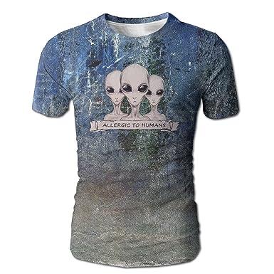 6feda03d7301 Amazon.com: Aliens Designed T-Shirt Short Sleeve Tee 3D Printed For ...