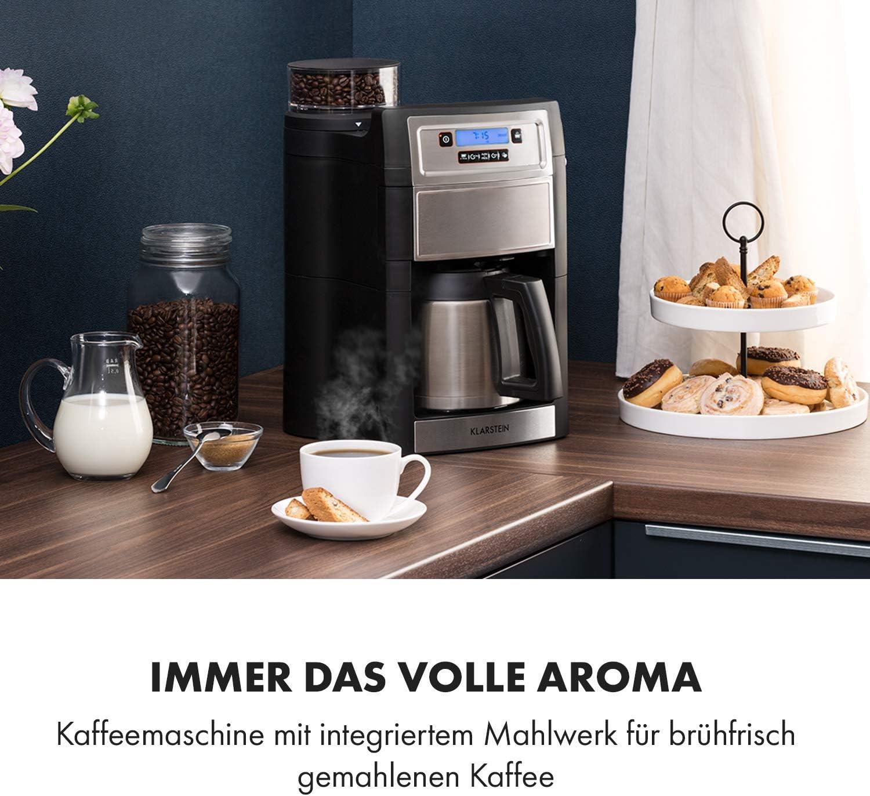 Der Alleskönner – Kaffeemaschine mit Mahlwerk und Thermoskanne