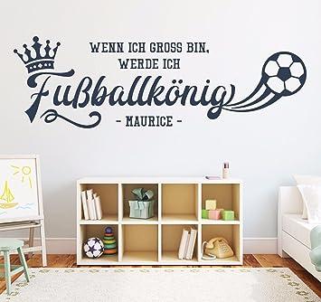 Tjapalo Ko Pkm183 Wandtattoo Fussball Wandtattoo Name Kinderzimmer Jungen Jungenzimmer Fussball Fussballkonig Mit Namen B100 X H31 Cm Amazon De Baumarkt