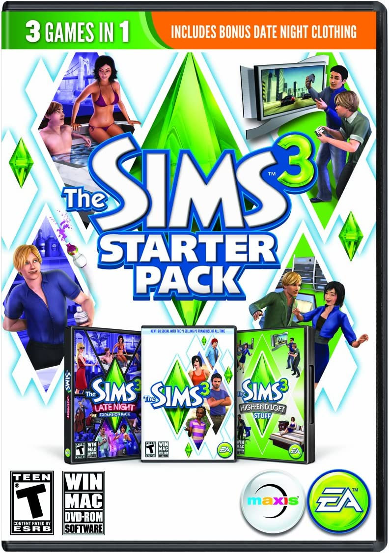 Amazon com: The Sims 3 Starter Pack - PC/Mac: Video Games