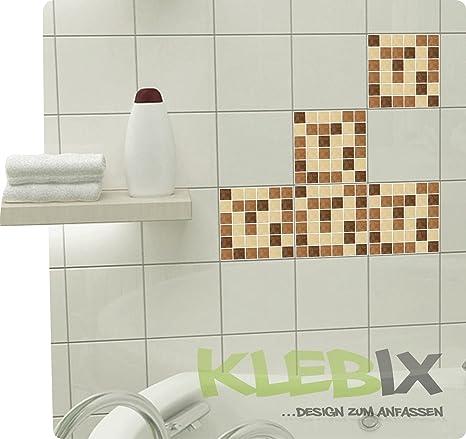Mosaico marrone piastrelle adesivo piastrelle immagine finta adesivo ...