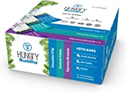 Hungry Buddha Keto Bars - The Low Sugar, Low Net Carb, Plant-Based Bar Snack made with Clean Ingredients [Variety Box; 12-Pa
