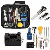 Towinle Kit de réparation Montre Outils Kit d'outils Horloger avec Sac Portable en Nylon Professionnel Watch Tool 147 Pieces