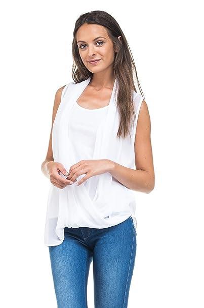 Y Amazon Sin Salsa Mangas Mujer es Ropa Para Camiseta Accesorios w8xqg57xX