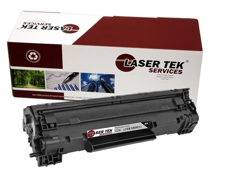 Tek servicios Compatible tóner de alto rendimiento de tóner láser reemplazo para el canon 126 (3483b001)., color 2pk - Black: Amazon.es: Oficina y papelería