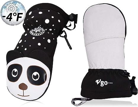Vgo 3-5 Y//O Kids 3M Lined Winter Gloves Waterproof Insert GA2447FW//GA2449FW
