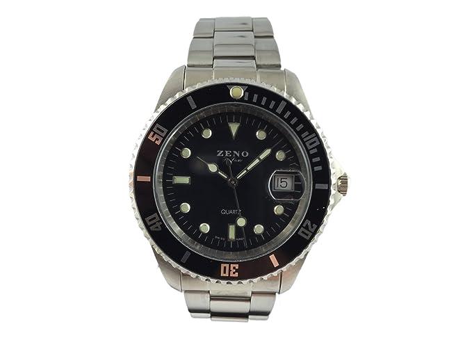 Reloj Zeno, Quartz Reloj De Pulsera, correa de acero inoxidable: Amazon.es: Relojes