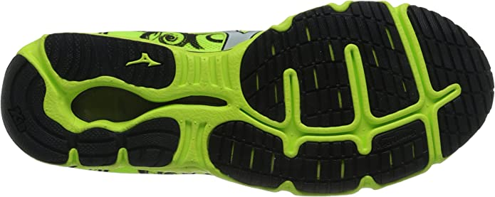 Mizuno Wave Hitogami 3 L601B51 Mens Green Mesh Lace Up Athletic Running Shoes 9