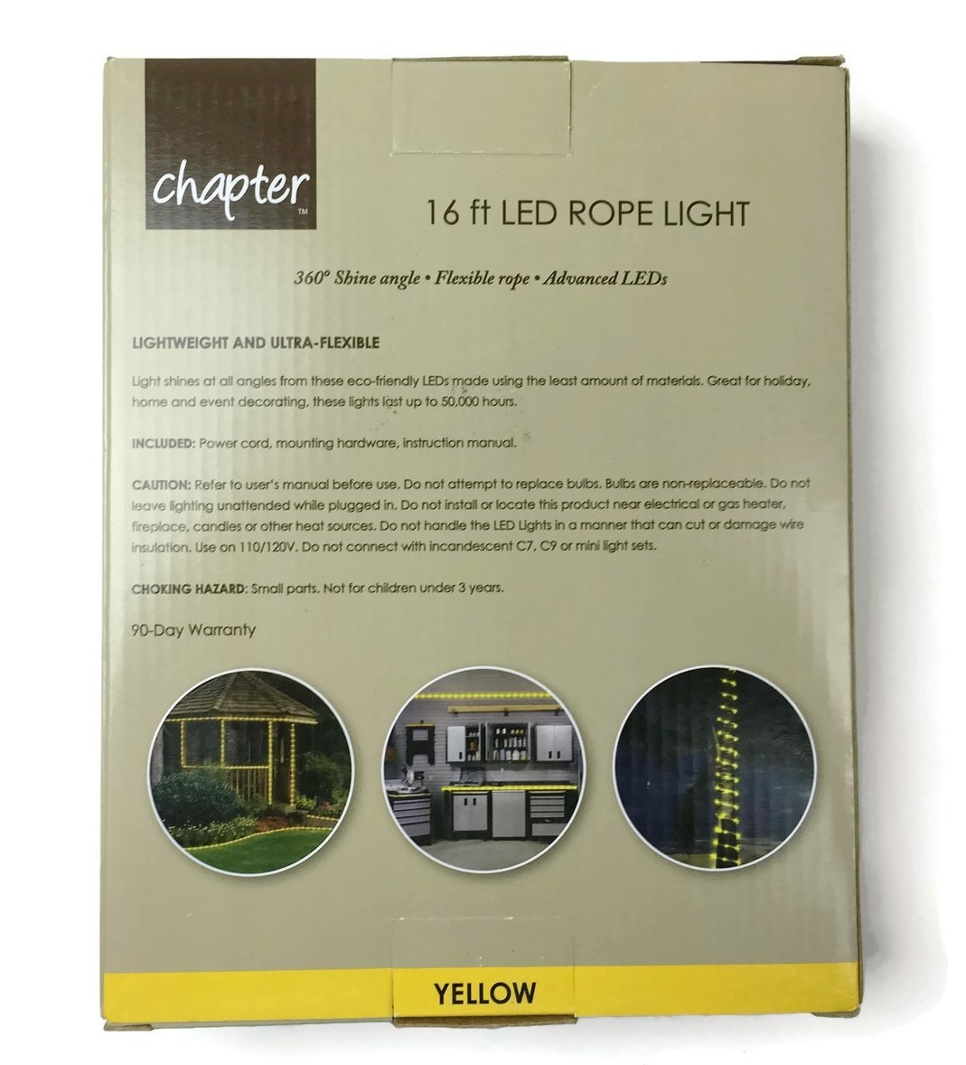 Amazon chapter 16 ft led rope light yellow indoor outdoor amazon chapter 16 ft led rope light yellow indoor outdoor connectable garden outdoor aloadofball Images
