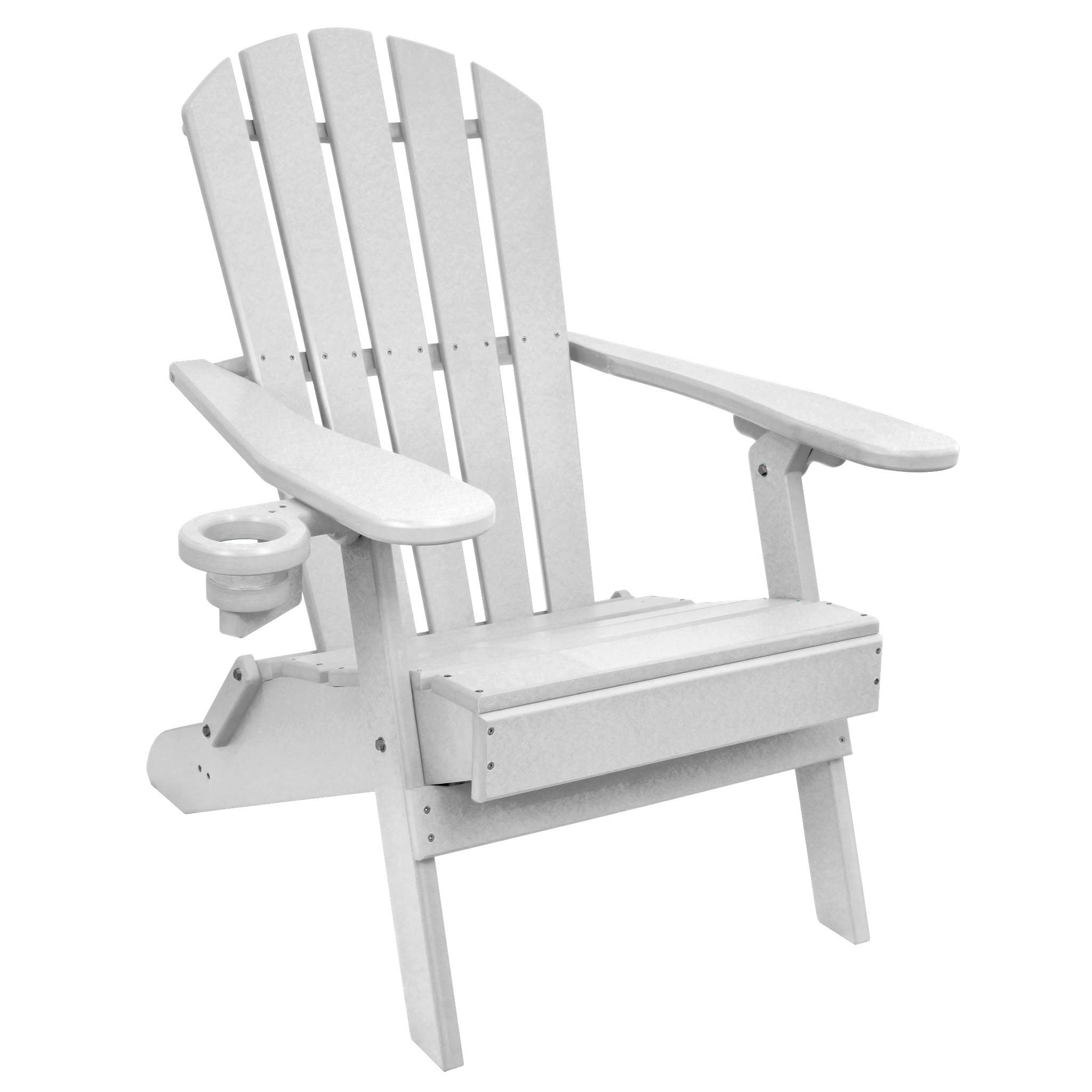 ECCB Outdoor Outer Banks Value Line Poly Lumber Adirondack Chair (White)