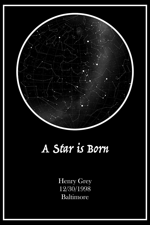 Birthday Star Map.Amazon Com A Special Occasion Custom Star Map Print