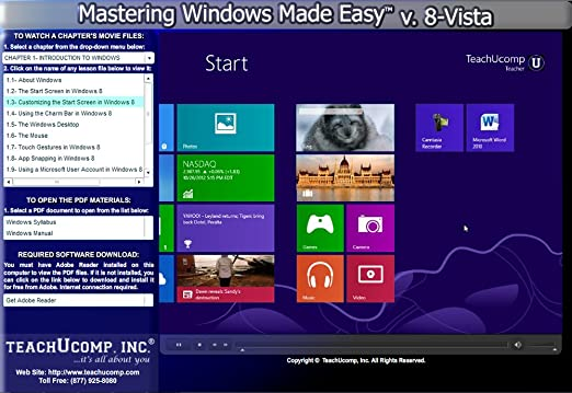 Mastering Windows Made Easy Training Tutorial v  8 - Learn how to